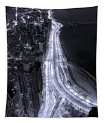 Lake Shore Drive Aerial  B And  W Tapestry
