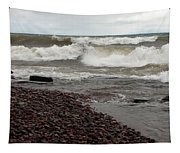 Lake Superior Surf Tapestry