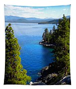 Lake Tahoe From The Rubicon Trail Tapestry