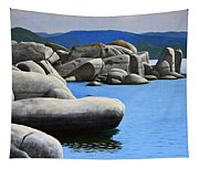 Lake Tahoe Rocky Cove Tapestry