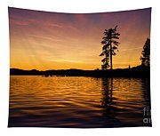 Lake Tahoe Sunset Tapestry