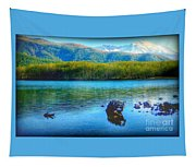 Lake View Of Mount Saint Helens  Tapestry