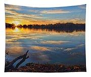 Memorial Park Sunset Tapestry