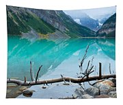 Lake With Canadian Rockies Tapestry