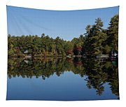 Lakeside Cottage Living - Reflecting On Relaxation Tapestry