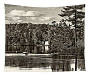 Land Of Lakes Sepia Tapestry