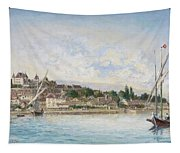 Landscape From Lake Leman To Nyon Tapestry