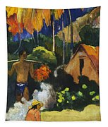 Landscape In Tahiti.mahana Maa Tapestry