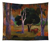 Landscape With A Pig And Horse Tapestry