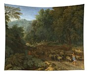 Landscape With A Shepherd And His Flock Tapestry