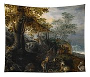 Landscape With Animals Tapestry