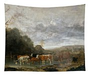 Landscape With Cattle Tapestry