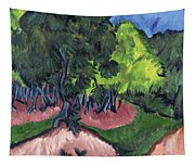 Landscape With Chestnut Tree Tapestry