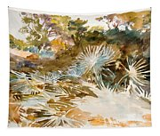 Landscape With Palmettos Tapestry