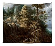Landscape With The Temptation Of Saint Anthony Tapestry