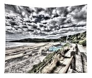 Langland Bay Painterly Tapestry