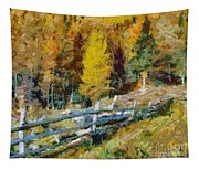 Larches In Autumn Tapestry