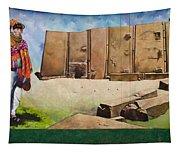 Large Mural In Cusco Peru Part 7 Tapestry