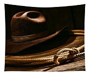 Lariat And Hat Tapestry