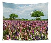 Larkspur Fields Forever Tapestry