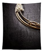 Lasso On Leather Tapestry