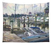 Late Afternoon In Virginia Harbor Tapestry