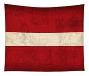 Latvia Flag Vintage Distressed Finish Tapestry
