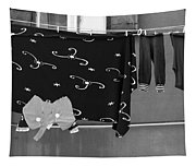 Laundry Vii Black And White Venice Italy Tapestry