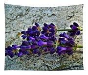 Lavender On White Stone Tapestry