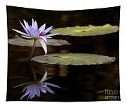 Lavendar Reflections In The Lake Tapestry