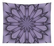Lavender Abstract Flower Tapestry
