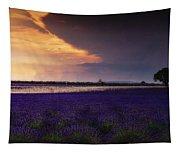 Lavender Thunderstorm Tapestry