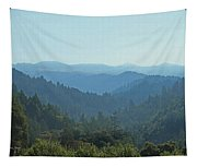 Layers Of Forest And Bllue Sky Tapestry