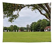 Lazy Sunday Afternoon - Cricket On The Village Green Tapestry
