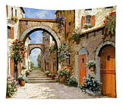 Le Porte Rosse Sulla Strada Tapestry
