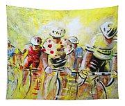Le Tour De France 07 Acrylics Tapestry