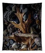 Leaf And Stones Tapestry
