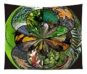 Leaf Collage Orb Tapestry