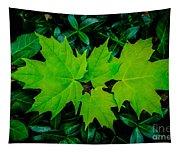 Leaf Overlay Tapestry