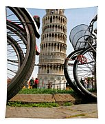 Leaning Bicycles Of Pisa Tapestry