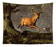 Leaping Stag Tapestry