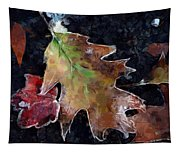 Leaves And Frost Tapestry