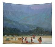 Leaving The Beach Tapestry