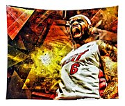 Lebron James Art Poster Tapestry