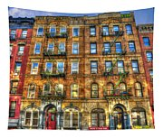 Led Zeppelin Physical Graffiti Building In Color Tapestry