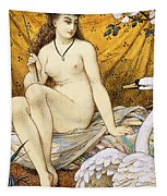 Leda And The Swan Tapestry