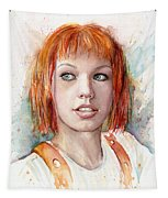 Leeloo Portrait Multipass The Fifth Element Tapestry by Olga Shvartsur