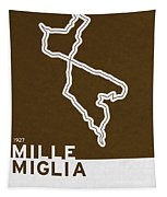 Legendary Races - 1927 Mille Miglia Tapestry