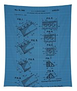 Lego Building Blocks Blueprint Patent Tapestry