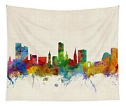 Leicester England Skyline Tapestry